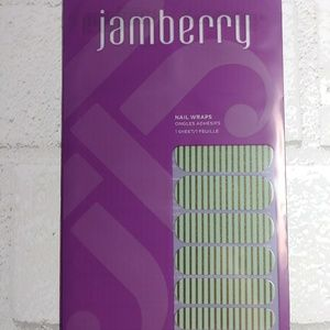 Jamberry HS15 Mint Green & Gold Stripe Nail Wrap